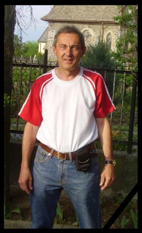 Gyula bácsi a Balatont kerülő kerékpártúrán.
